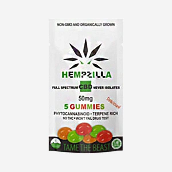 Hempzilla 5 Piece CBD Gummies