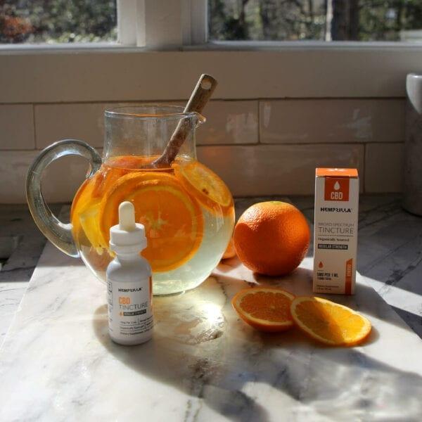 cbd orange flavored tincture hempzilla