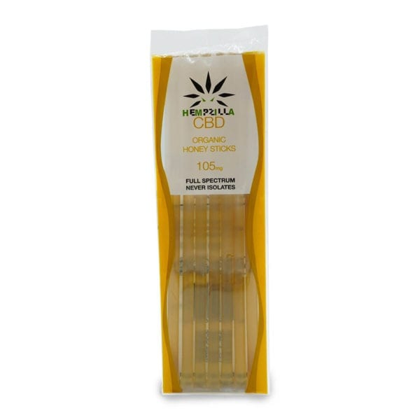 7pk Honey Sticks Hempzilla CBD