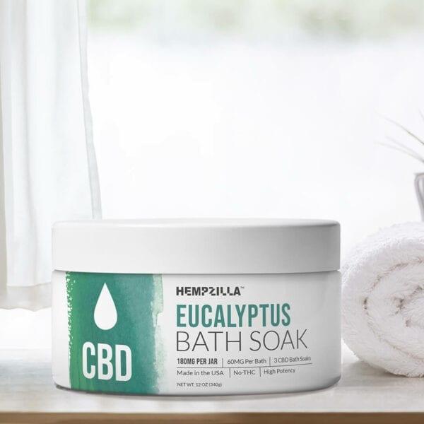eucalyptus CBD bath soak