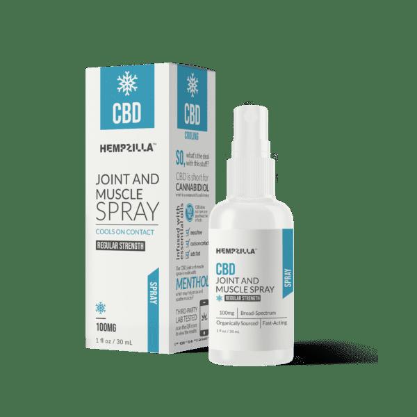 pain spray mockup Hempzilla CBD