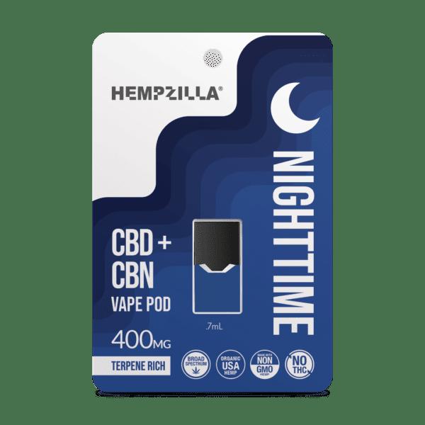 HZ Vape Pod Nighttime Mockup Hempzilla CBD